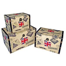 Small trunk with Union Jack (Set of 3)