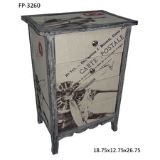 Carte Postale 4 Drawer Plane Chest
