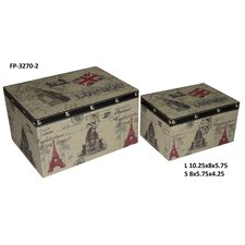 London / Paris Keepsake Box (Set of 2)