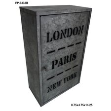 Metal Hanging London, Paris and New York Box