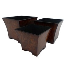 Square Tapered Pot Planter (Set of 3)