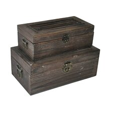 Rectangular Garden Trunk (Set of 2)