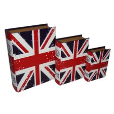 Vibrant Union Jack Book Box (Set of 3)