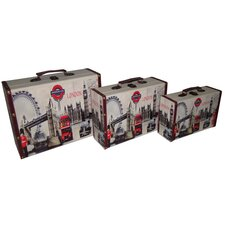 Retro London Suitcase (Set of 3)