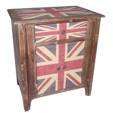 Union Jack 1 Drawer 2 Door Cabinet