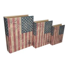 US Flag Book Box (Set of 3)