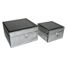<strong>Cheungs</strong> Square Beveled Mirror Keepsake Box (Set of 2)