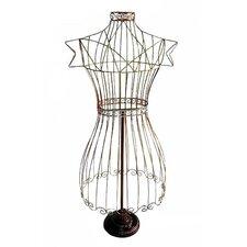 Wire Dress Form Sculpture