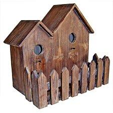 Double Wooden Bird House