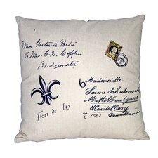 Square Pillow with Fleur De Lis