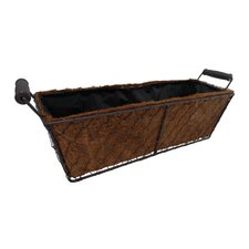 Rectangular Coco Lined Ledge Basket