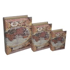 <strong>Cheungs</strong> Hemisphere Map Book Box (Set of 3)