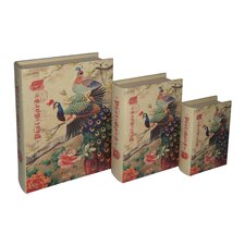 Peacock Book Box (Set of 3)
