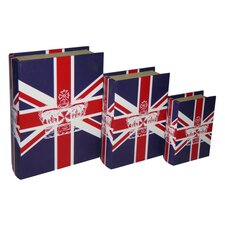 Union Jack Book Box (Set of 3)