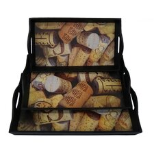 Assorted Cork Tray (Set of 3)