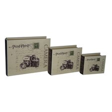 Camera Book Box (Set of 3)