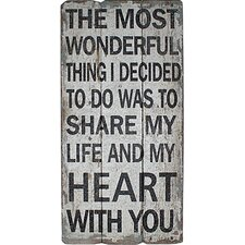 Share My Life and Hearts Wall Décor