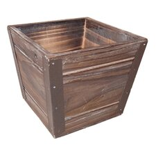 Square Wooden Pot