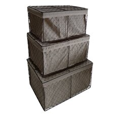 Rectangular Lined Wire Storage (Set of 3)