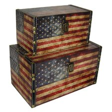 American Flag Treasure Box (Set of 2)