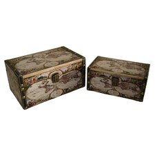 Globe Box (Set of 2)