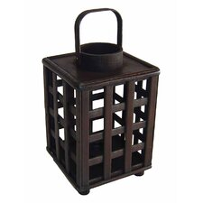 Wooden Square Tall Lantern