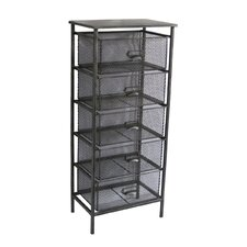 5 Drawer Mesh Wire Storage