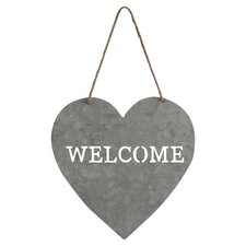"Heart Shaped ""Welcome"" Sign Wall Décor"
