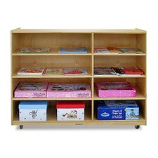 4-Shelf / 4-Cubby Unit with Casters