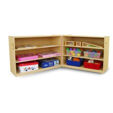 Portable Fold and Lock Shelf Cabinet
