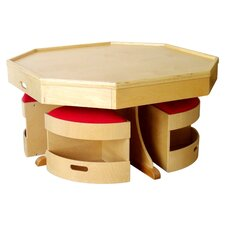 <strong>A+ Child Supply</strong> Kids 5 Piece Table and Stool Set