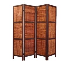 "67"" x 61"" Saigon Folding Screen 4 Panel Room Divider"