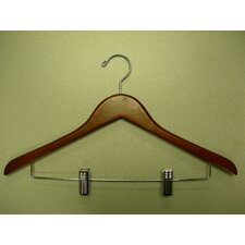 Genesis Flat Suit Hanger with Wire Clips (Set of 50)
