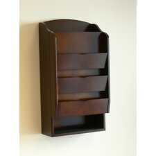 Door Entry Organizer with Mail Sorter in Dark Walnut