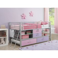 Junior Twin Locker Loft Bed with Trundle