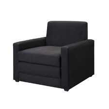 Single Sleeper Chair in Rich Black