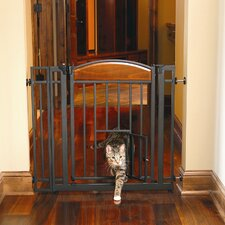 <strong>Carlson Pet Products</strong> Design Studio Walk Through Pet Gate with Small Pet Door