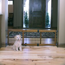<strong>Carlson Pet Products</strong> Design Studio 2-in-1 Free Standing Pet Gate