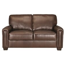 Mathew Leather Loveseat