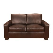 Mabel Leather Loveseat