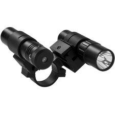 "<strong>NcSTAR</strong> 1"" Double Rail Scope Adapter / Flashlight / Green Laser Sight"