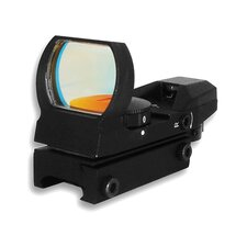 Red and Green Dot ReflexSight with 4 Different Reticles in Black