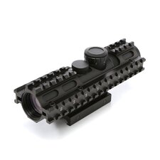 <strong>NcSTAR</strong> 2-7x32 Compact Scope 3 Rail Sighting System / Blue Illuminated / Rangefinder / in Green