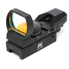 Red Dot ReflexSight with 4 Different Reticles in Black