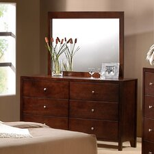 Dalton 6 Drawer Dresser and Mirror Set