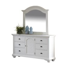 Aden 6 Drawer Combo Dresser and Mirror Set