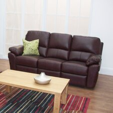 Monzano Leather 3 Seater Sofa