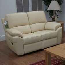 Monzano Leather 2 Seater Reclining Sofa