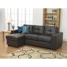 Gemona 3 Seater L Sofa in Brown