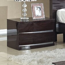 Plaza 2 Drawer Bedside Table
